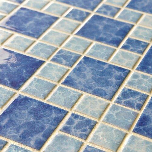 "EliteTile Pool 2"" x 2"" Porcelain Glazed Mosaic in Adriatic"