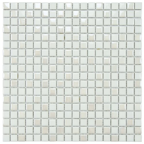 "EliteTile Posh 5/8"" x 5/8"" Pixie Porcelain Mosaic Wall Tile in White"