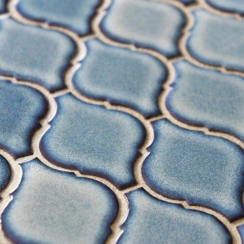 "EliteTile Arabesque 2-3/4"" x 1-7/8"" Porcelain Mosaic Tile in Orion"