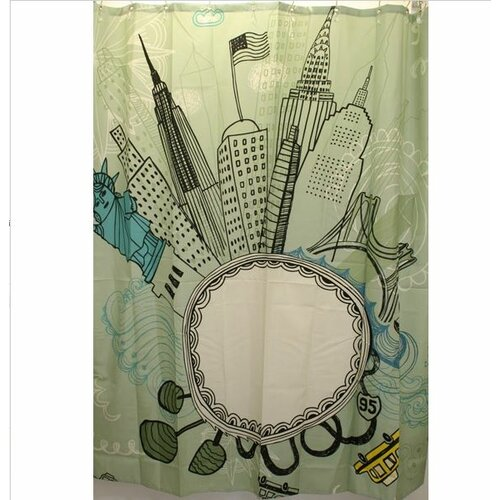 carnation home fashions funky city polyester shower