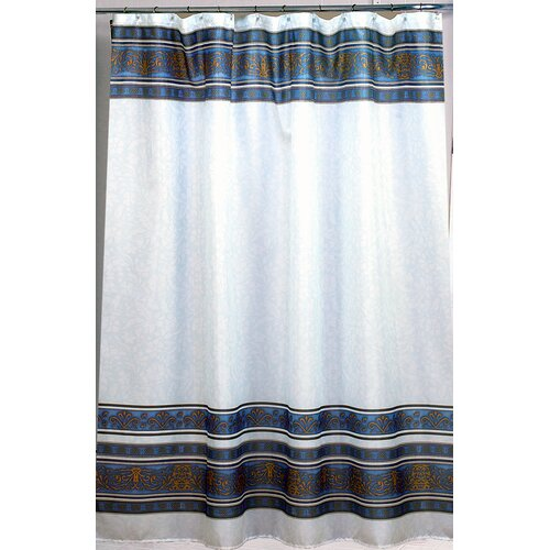 Carnation Home Fashions Fleur Polyester Fabric Shower Curtain