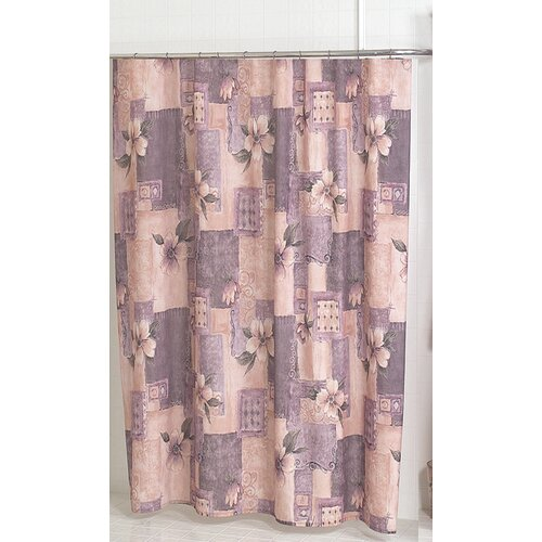Carnation Home Fashions Magnolia Polyester Shower Curtain