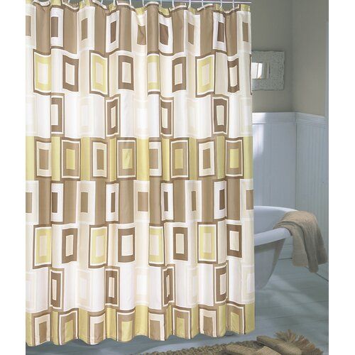 Carnation Home Fashions Fabric Shower Curtain Fabric Shower Curtain