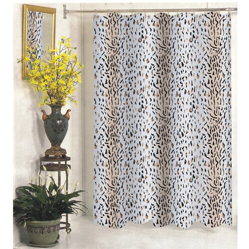 Carnation Home Fashions Hailey Polyester Shower Curtain