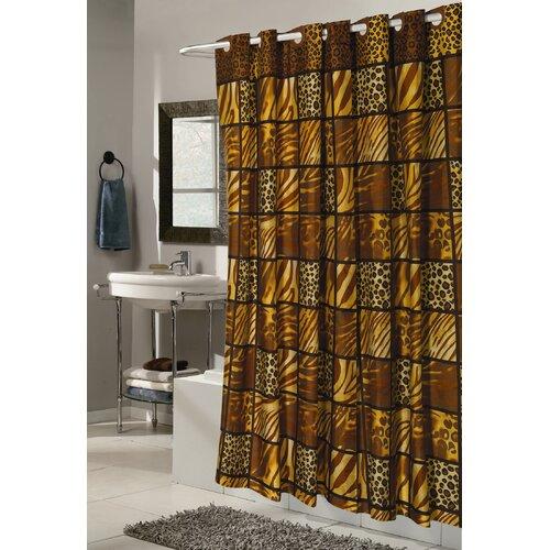 Ez On Wild Encounter Fabric Shower Curtain