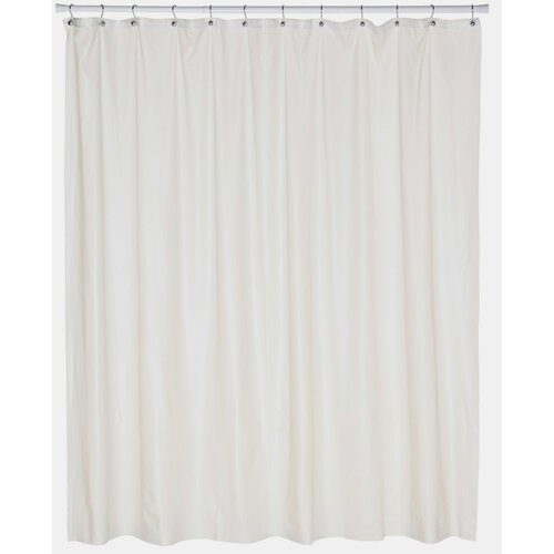 Carnation Home Fashions Extra Wide 5 Gauge Vinyl Shower Curtain Liner With Metal Grommets