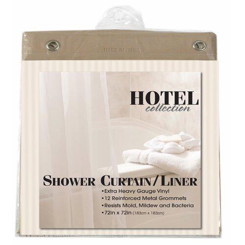 "Carnation Home Fashions ""Hotel"" Vinyl Shower Curtain Liner"