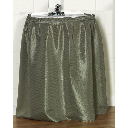 "Carnation Home Fashions ""Lauren"" 100% Polyester Dobby Sink Drape with Adhesive Hanging Strip"