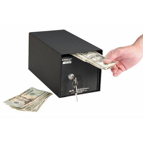 Perma-Vault Horizontal Mount Front Loading Key Lock Commercial Depository Safe