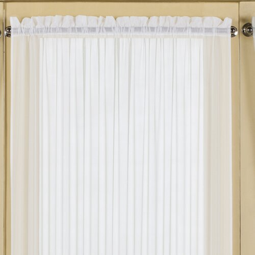 United Curtain Co. Batiste Full Door Rod Pocket Single Curtain Panel ...