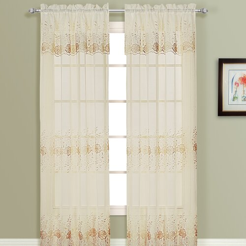 United curtain co marianna rod pocket single curtain panel amp reviews