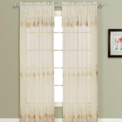 United Curtain Co. Marianna Rod Pocket Curtain Single Panel