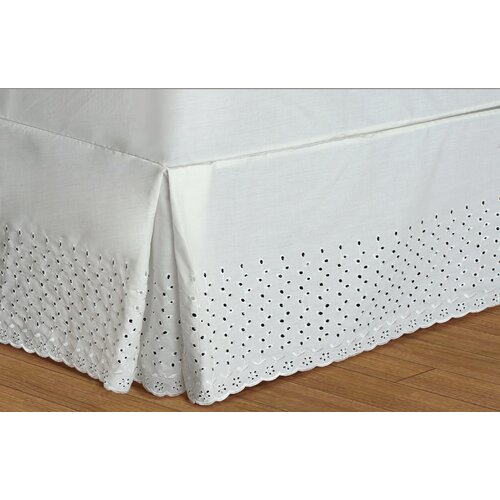 United Curtain Co. Vienna Eyelet Bed Skirt