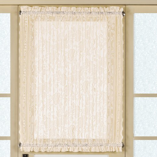 united curtain co batiste full door rod pocket single curtain panel