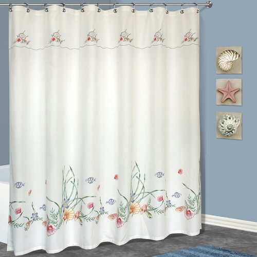 United Curtain Co. Seashell Polyester Shower Curtain