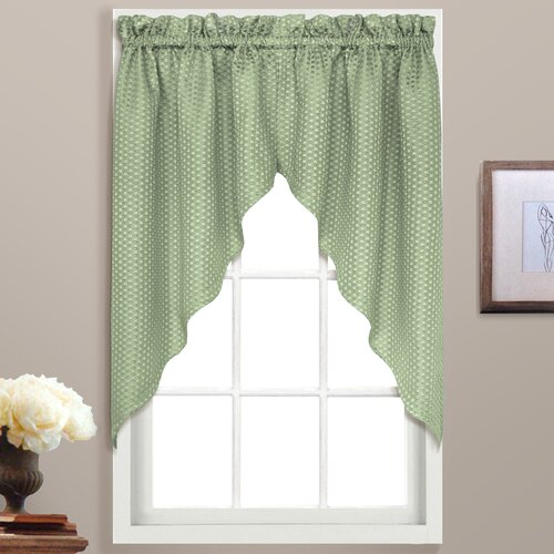 "United Curtain Co. Hamden Rod Pocket Swag 38"" Curtain Valance"