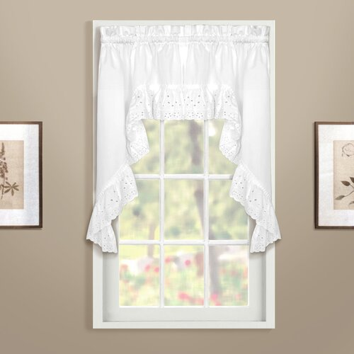 "United Curtain Co. Vienna Rod Pocket Swag 38"" Curtain Valance"