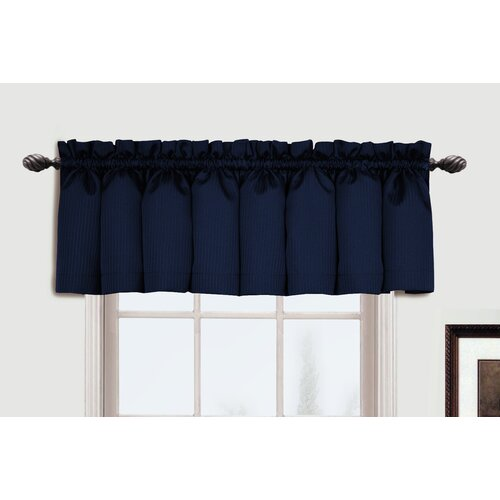 "United Curtain Co. Metro Rod Pocket Tailored 54"" Curtain Valance"