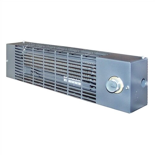 TPI Powder Coated Epoxy Steel Convection Baseboard Electric Space Heater with Thermostat