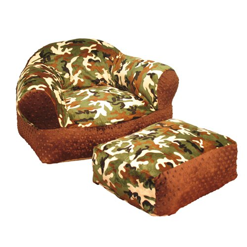 Ozark Mountain Kids Camo Ottoman