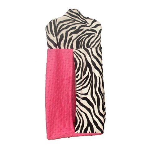 Ozark Mountain Kids Hot Pink Zebra Diaper Stacker