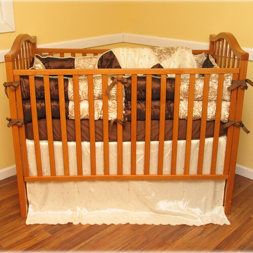 Chocolate Dreams 4 Piece Crib Bedding Set