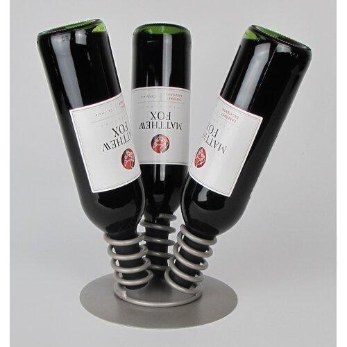 3 Bottle Tabletop Wine Display Rack