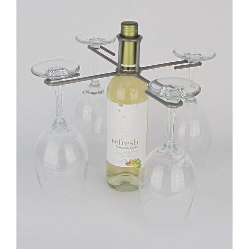 Wine Bottle 4 Stem Holder