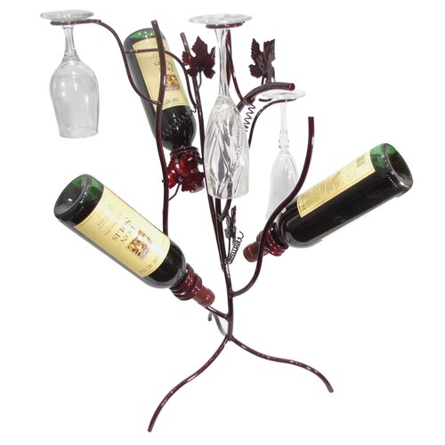 Metrotex Designs Stem Tree 3 Bottle Tabletop Wine Rack