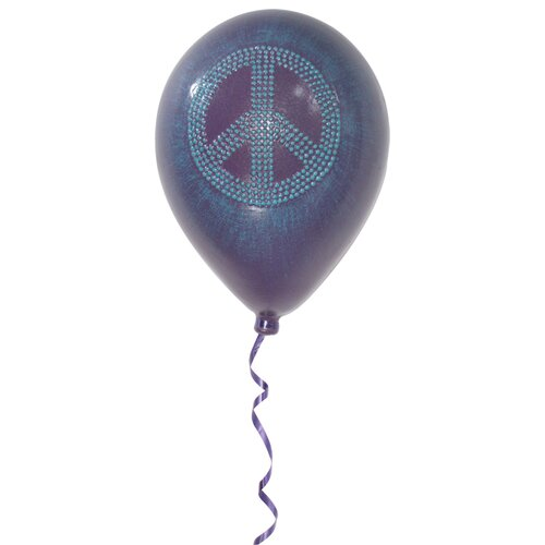 Metrotex Designs Girly Chic Permanent Peace Sign Balloon 3D Wall Décor