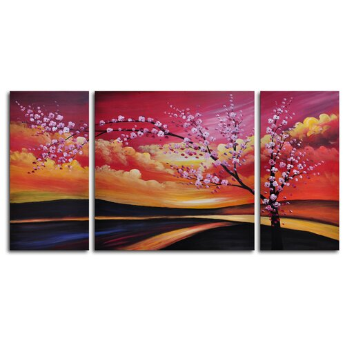 My Art Outlet Painted Sky 3 Piece Painting Print on Canvas Set
