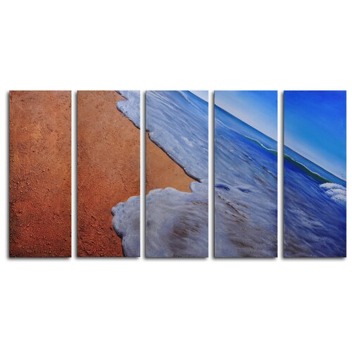 Gossamer Waves 5 Piece Original Painting on Canvas Set