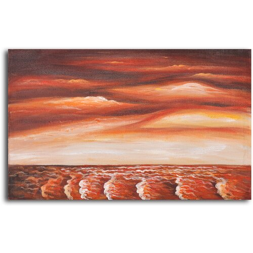 My Art Outlet Brewing Unrest Original Painting on Canvas
