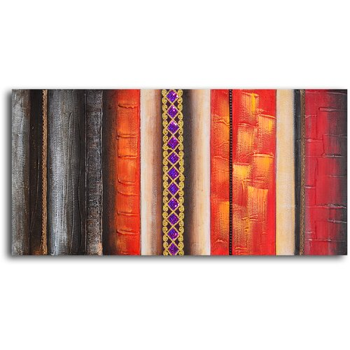 'Brocade Column' Original Painting on Canvas
