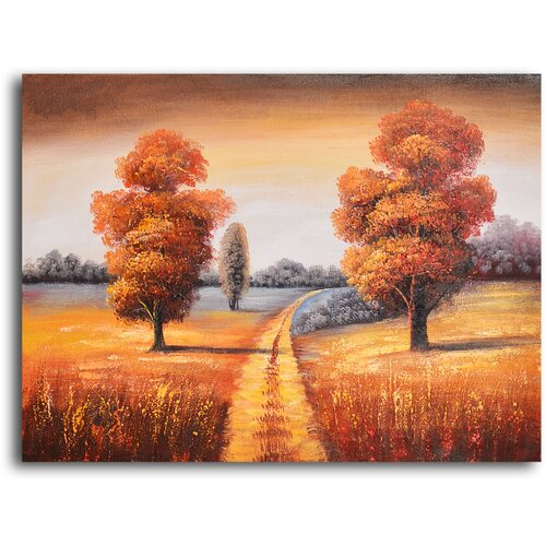My Art Outlet 'Off-Roading in Fall' Original Painting on Canvas