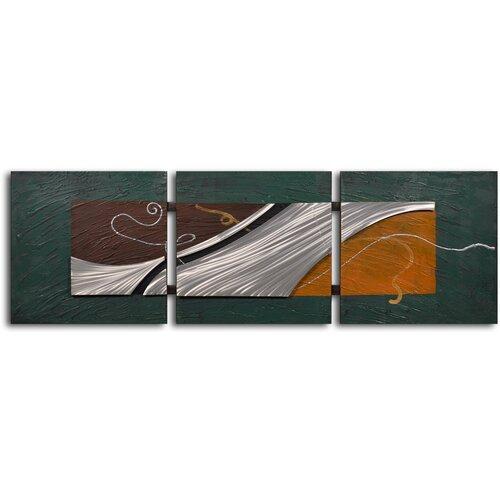 'Metal Foam on Shore' Original Painting on Canvas