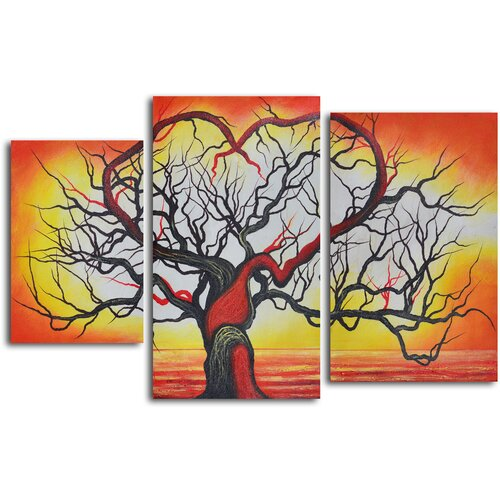 'The Love of Trees' 3 Piece Original Painting on Canvas