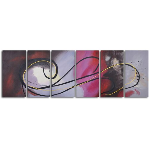 'Treble Clef Fallacy' 6 Piece Original Painting on Canvas Set
