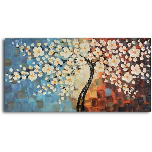 'Textured Cherry Blossom' Original Painting on Canvas