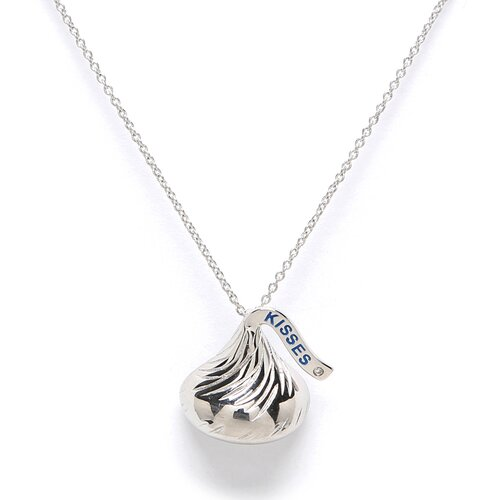 Hershey's Kiss Pendant with solitary diamond
