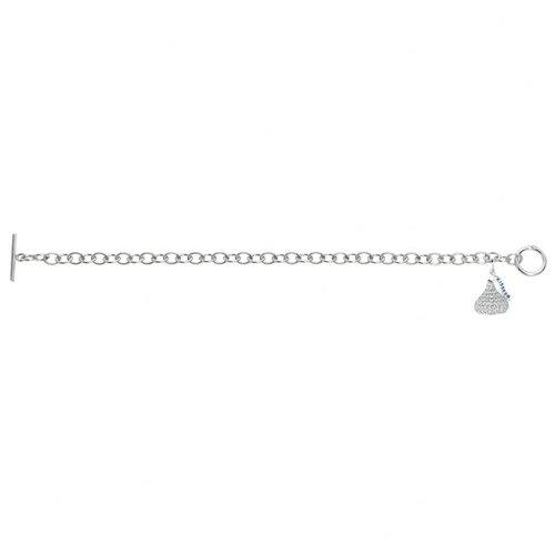 Hershey's Kiss Cubic Zirconia 3D Toggle Link Bracelet