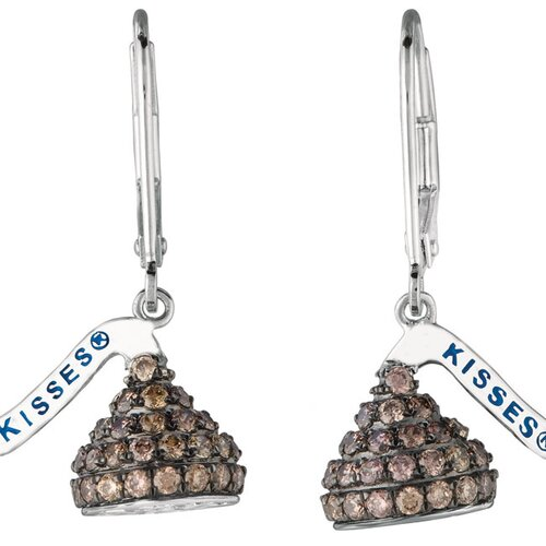 Hershey's Kiss Diamond Drop Earrings