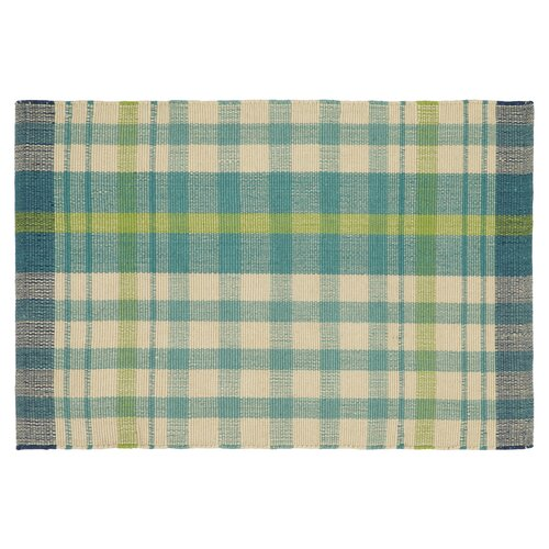 Glad for Plaid Lake Striped Indoor/Outdoor Rug
