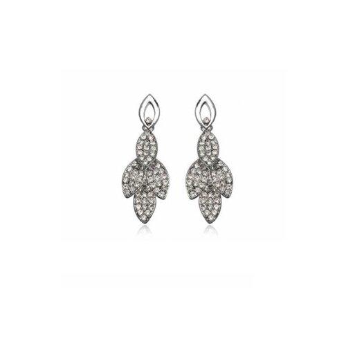 Fashion Leaf Style Earrings with Swarovski Elements