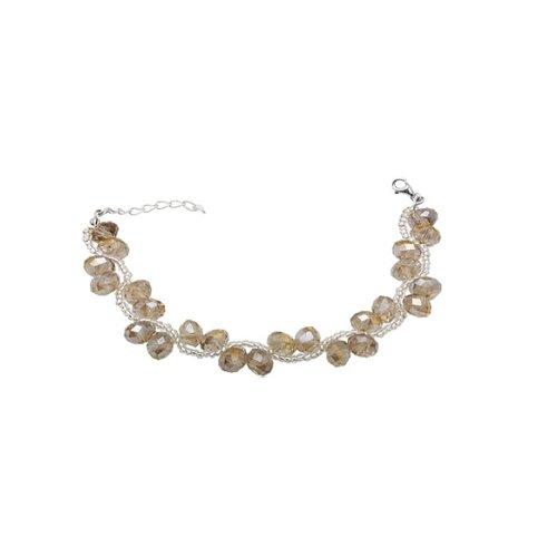 Sterling Silver Bracelet with Crystal with Swarovski Elements