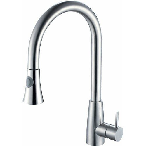 Alfi Brand Single Handle Single Hole Kitchen Faucet with Pull Down Spray