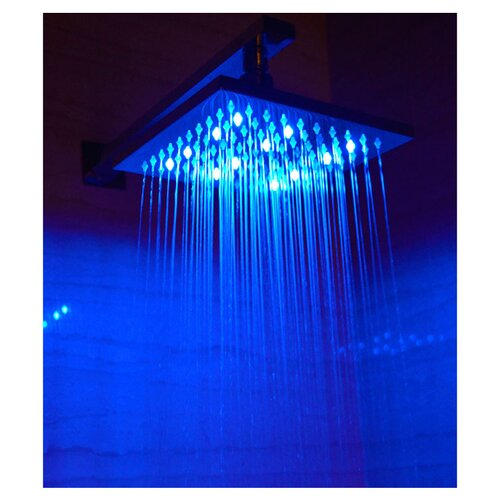 "Alfi Brand 10"" Square LED Rain Shower Head"