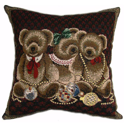 American Mills Jeweled Bears Pillow