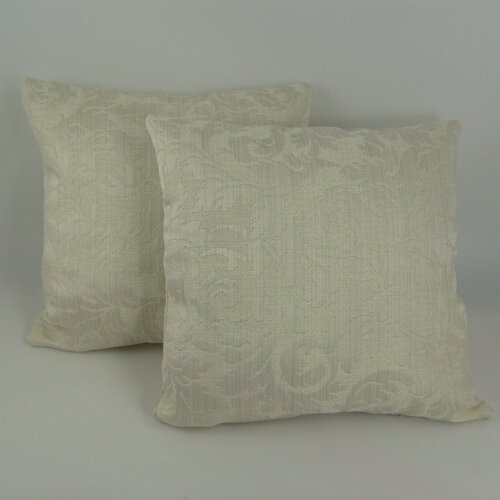 American Mills Scroll Damask Pillow