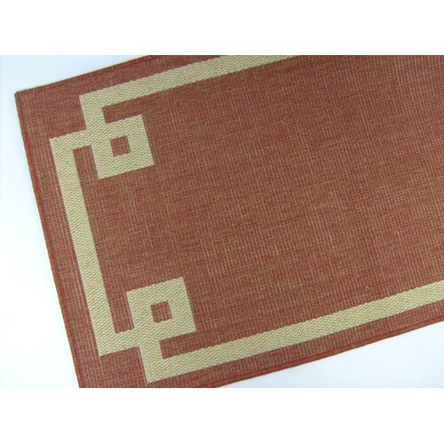 American Mills Borderline Terracotta Indoor/Outdoor Rug